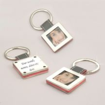 Photo Frame Keyring with Engraving